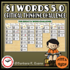 One Dollar Words 5.0 -- Critical Thinking