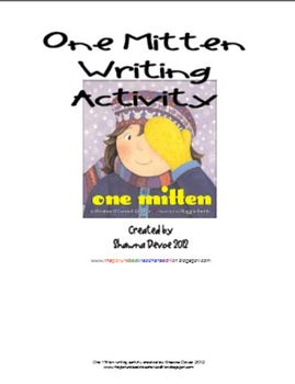 One Mitten by Kristine O'Connell George Writing Activity