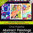One Palette Abstract Paintings- - with 3 Visuals and 4 handouts