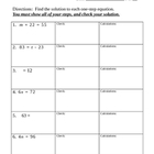 One-Step Equation Review (no integers)
