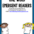 One Word Beginning Readers for Reading To Self