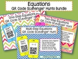 Equations QR Code Scavenger Hunt Bundle - One Step, Two St