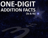 One-digit Addition Facts (3s and 4s) Folder Game