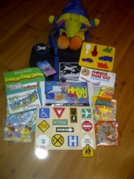 One of a Kind Literacy Bag -- theme: TRAVEL FUN