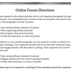 Online Forum Directions