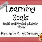 Ontario Curriculum Learning Goals Grade 5 Health and Phys Ed