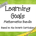 Ontario Curriculum Learning Goals Grade 5 Mathematics