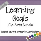 Ontario Curriculum Learning Goals Grade 5 The Arts