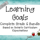Ontario Curriculum Learning Goals Grade 6 Complete Bundle
