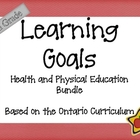 Ontario Curriculum Learning Goals Grade 6 Health and Phys Ed