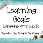 Ontario Curriculum Learning Goals Grade 6 Language Arts