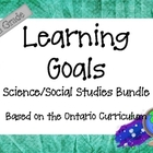 Ontario Curriculum Learning Goals Grade 6 Science/Social Studies