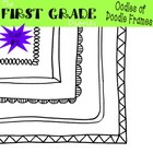 Oodles of Doodle Frames Set #2 {Digital Borders}