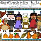 Oodles of Doodles: Give Thanks November Clip Art