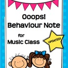 Ooops! Behavior Notice