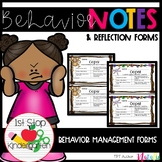 Oops! Behavior Notes & Reflection Forms