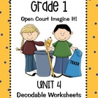 Open Court Imagine It: Unit 4 Decodable Worksheets for Grade 1