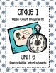 Open Court Imagine It: Unit 6 Decodable Worksheets for Grade 1
