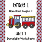 Open Court Imagine It: Unit 7 Decodable Worksheets for Grade 1
