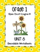 Open Court Imagine It: Unit 8 Decodable Worksheets for Grade 1