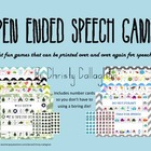 Open Ended Games for Speech