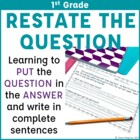 Open Ended Passages and Questions for 1st Grade