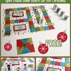 Open Ended Printable Game Boards - Happy Holidays