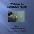 Open House / Curriculum Night