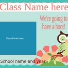 Open House Slideshow - Pink and Green Owl Theme