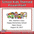 Open House or Back to School PowerPoint Presentation Schoo