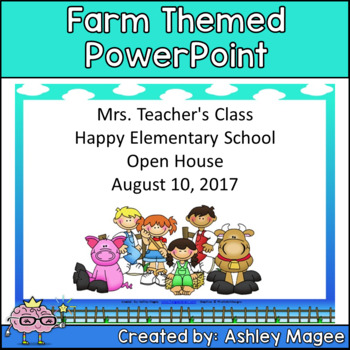 Open House/Back to School PowerPoint - Farm Theme