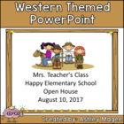Open House/Back to School PowerPoint Presentation Western/