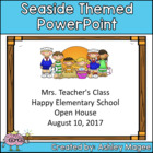 Open House/Back to School PowerPoint - Seaside/Beach Themed