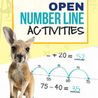 Open Number Line Practice Pack, Empty Number Line