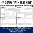 Operations and Algebraic Thinking Problems {4th Grade Comm