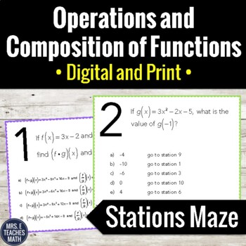 Function Operation Composition Activity