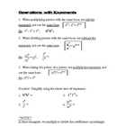 Operations with Exponents NOTES 2