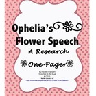 Ophelia's Flower Speech--Mini Research Project