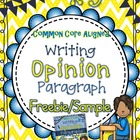 Opinion Paragraph Writing Unit Freebie/Sample