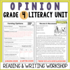 Opinion Reading & Writing Unit: Grade 4...40 Lessons with CCSS!!
