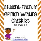 Opinion Writing Checklist - Student Friendly