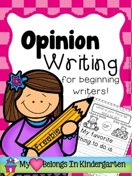Opinion Writing FREEBIE {Introduction for Beginning Writers}