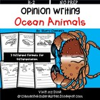 Opinion Writing: Favorite Ocean Animal (Persuasive)