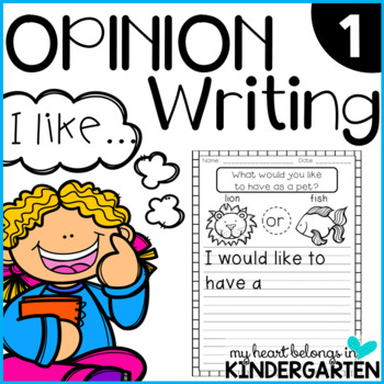 Opinion Writing 1 {Introduction for Beginning Writers}