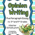 Opinion Writing Project ~ 3rd & 4th Grades {Common Core}