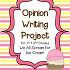 Opinion Writing Project for Primary Grades {Common Core}