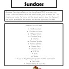 Opportunity Cost Ice Cream Sundae Task for Economics