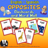 Opposites Flashcards and Word Wall
