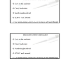 Oral Presentation Checklist