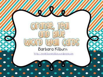 Orange, Teal and Navy Letter Cards